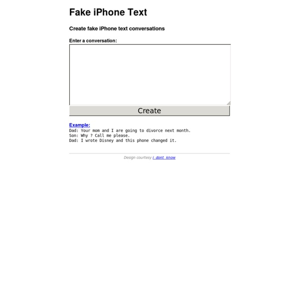 Fake iPhone Text