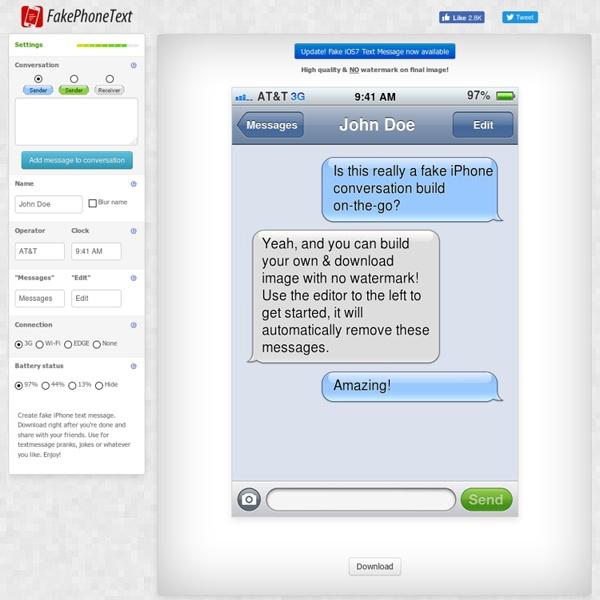 Fake iPhone Text Generator