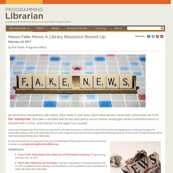 Fake News: A Library Resource Round-Up