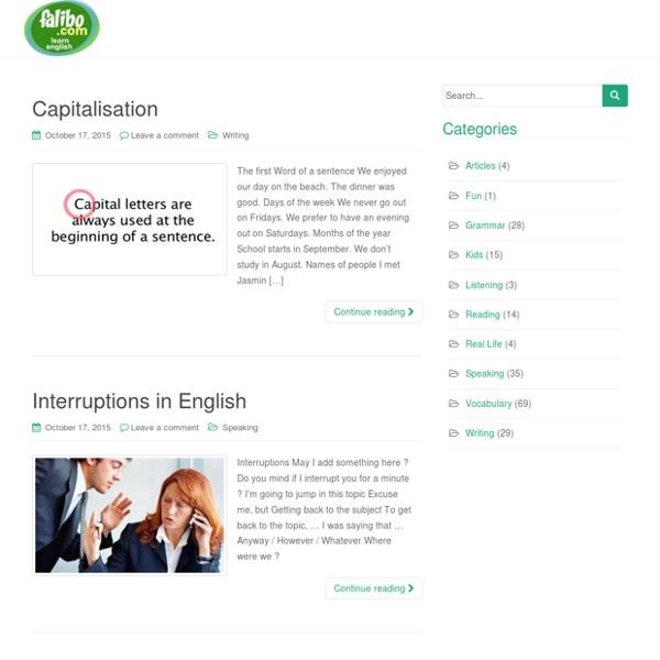 Falibo - Learn English As a Second Language