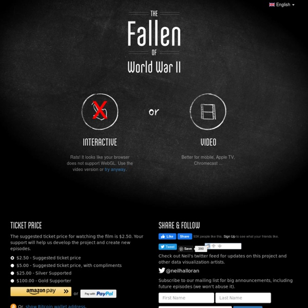 The Fallen of World War II - Data-driven documentary about war & peace