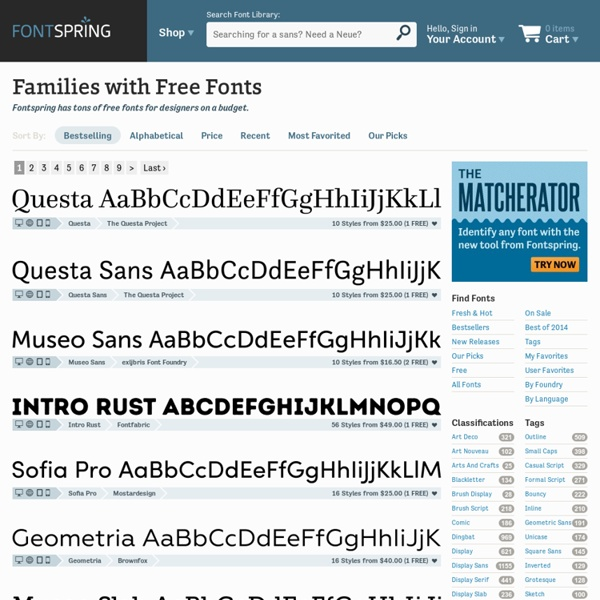 Families with Free Fonts