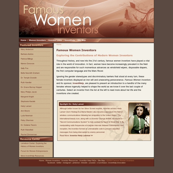 Famous Women Inventors