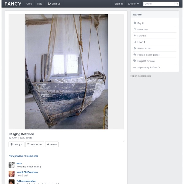 Hanging Boat Bed - StumbleUpon