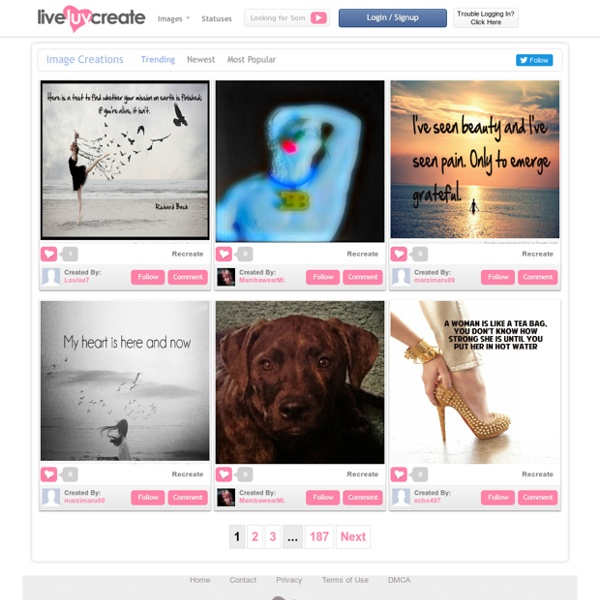 Create Fanfiction & Beautiful Quote Photos - LiveLuvCreate.com