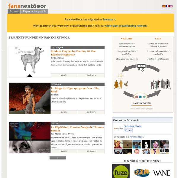 FansNextdoor + Crowdfunding créatif