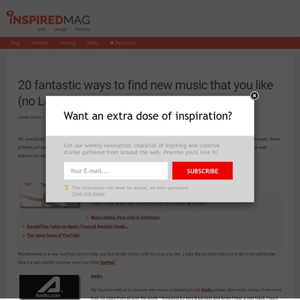 20 fantastic ways to find new music that you like (no Last.fm & Pandora inside)