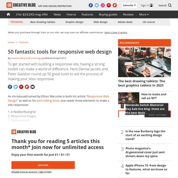 50 fantastic tools for responsive web design