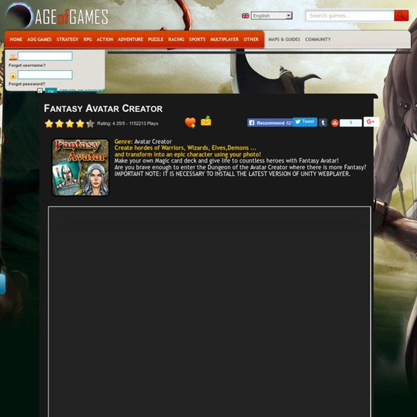 Fantasy Avatar Creator | Pearltrees