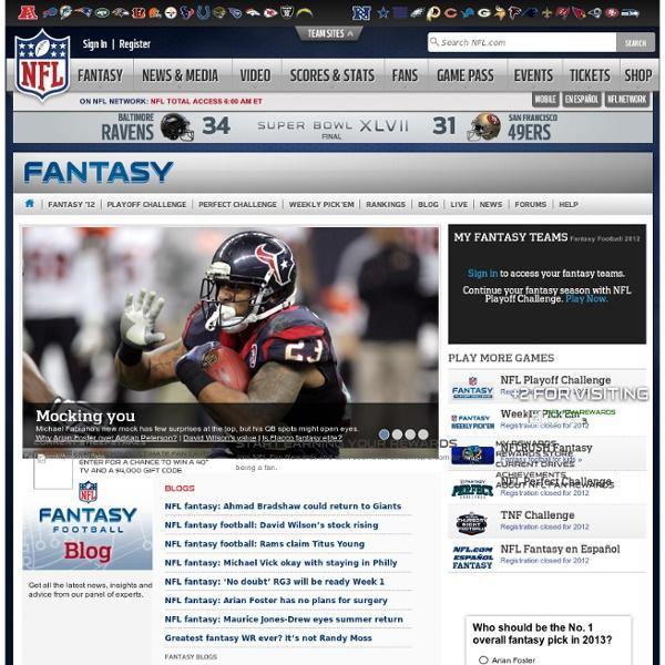 National Football League - NFL.com Free Fantasy Football