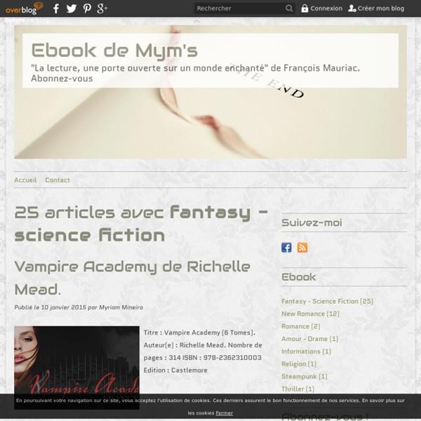 Fantasy - science fiction - Ebook de Mym's