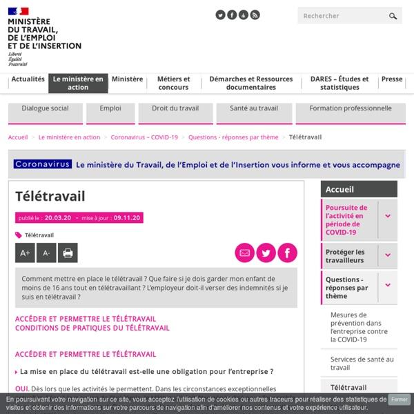 FAQ - Télétravail - coronavirus