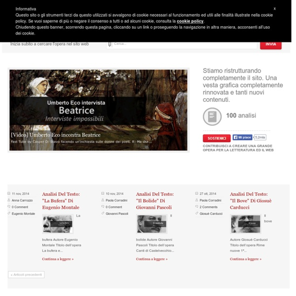 FareLetteratura.it - La letteratura sul web