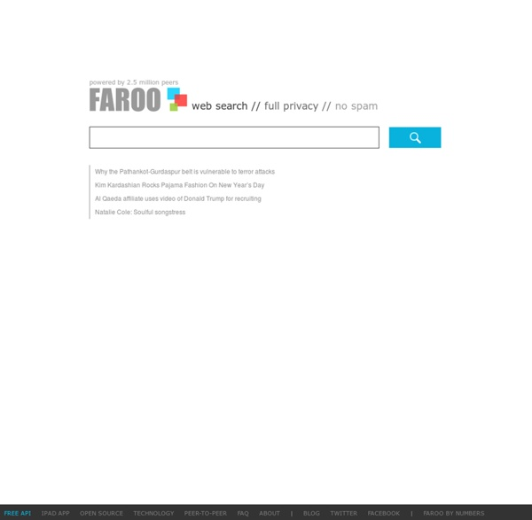 FAROO Peer-to-peer Web Search