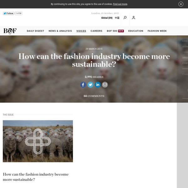 How can the fashion industry become more sustainable?