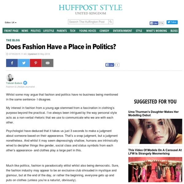 Does Fashion Have a Place in Politics?