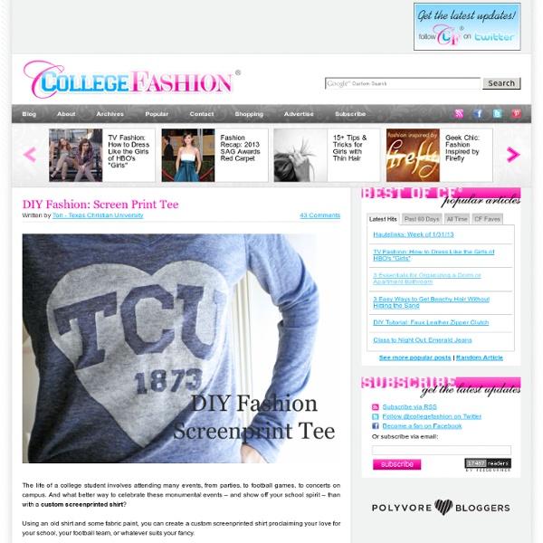 DIY Fashion: Screen Print Tee