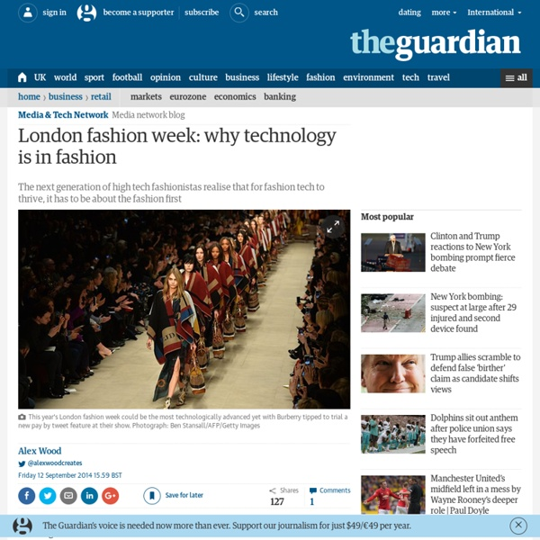 London fashion week: why technology is in fashion