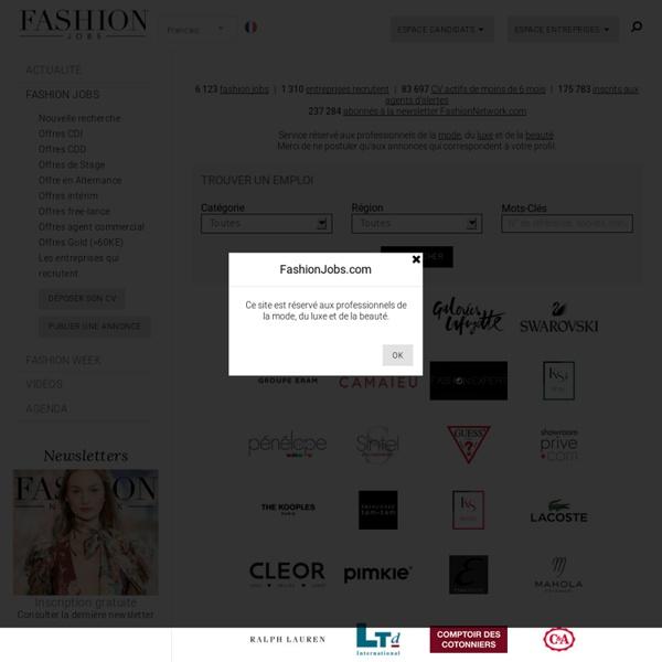 France - Le site emploi des professionnels de la mode, du luxe et de la beauté