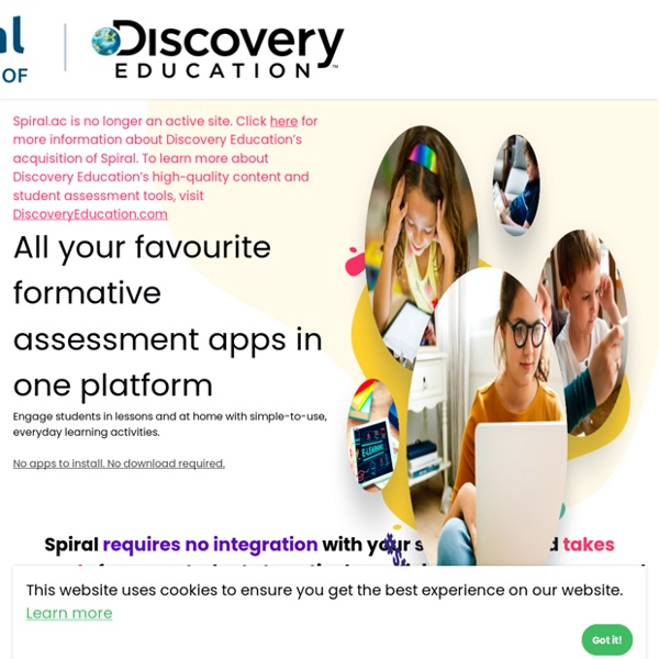 Spiral - Free collaborative apps for 1:1 classrooms