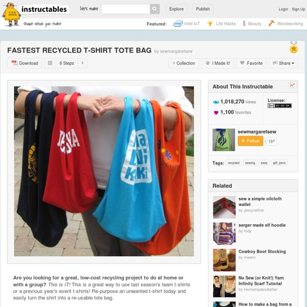 FASTEST RECYCLED T-SHIRT TOTE BAG