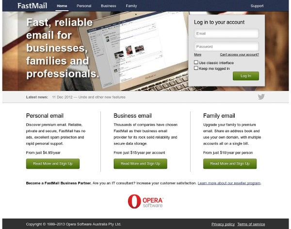 FastMail: Fast, reliable email
