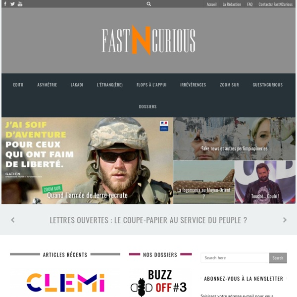 Home - FastNCurious - L'actu de la communication par les étudiants du Celsa