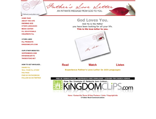 Fathers Love Letter Main Page - StumbleUpon
