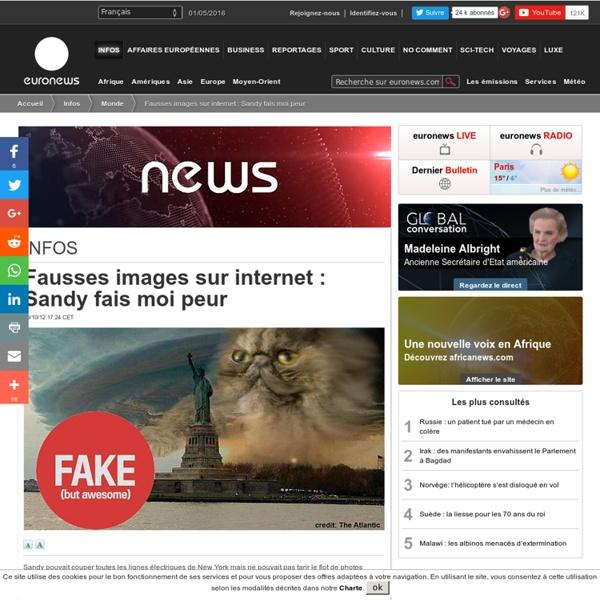Fausses images sur internet: Sandy fais moi peur