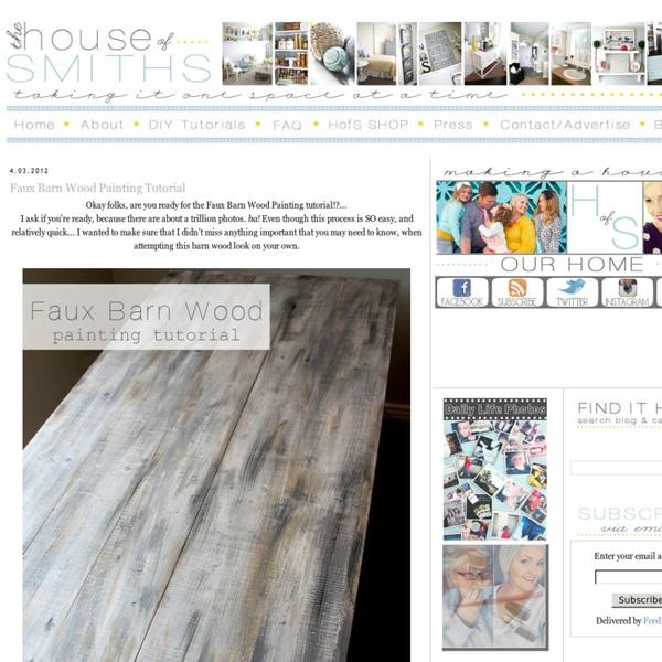Faux Barn Wood Painting Tutorial