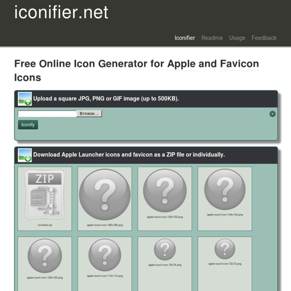 Free Online Favicon and Apple Icons Generator - iconifier.net