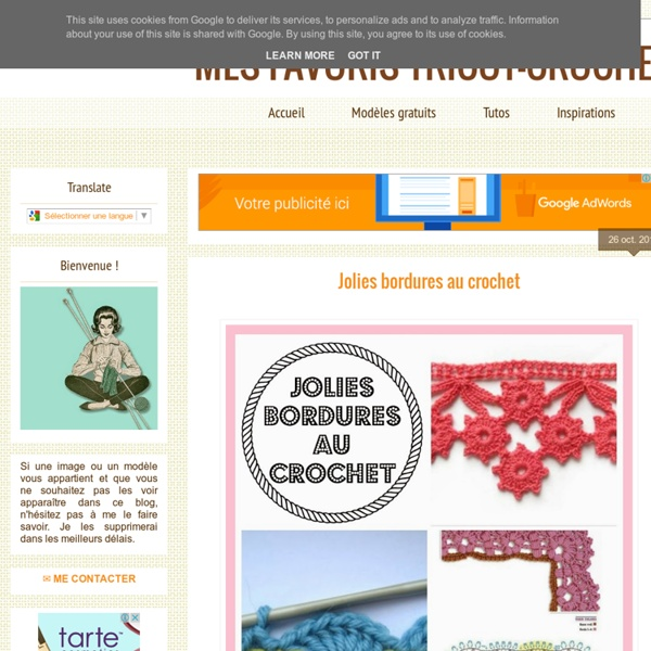 Mes favoris tricot-crochet Tuto Bordures au crochet