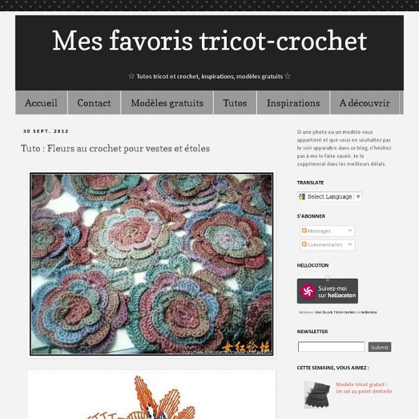 Tuto : Fleurs au crochet pour vestes et étoles