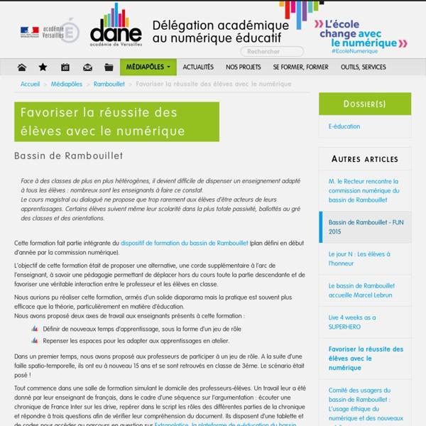 Favoriser la réussite des élèves avec le numérique - Dane de l'académie de Versailles