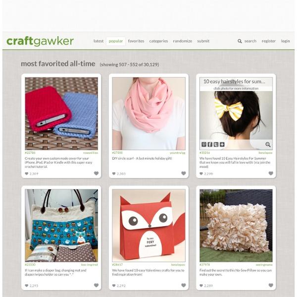 Craftgawker - StumbleUpon