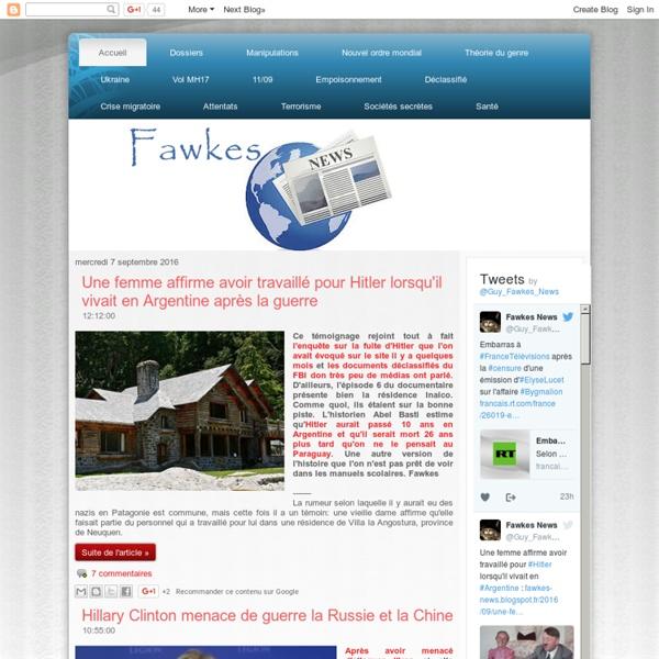 Fawkes News - Plus on est de Fawkes moins ils rient !