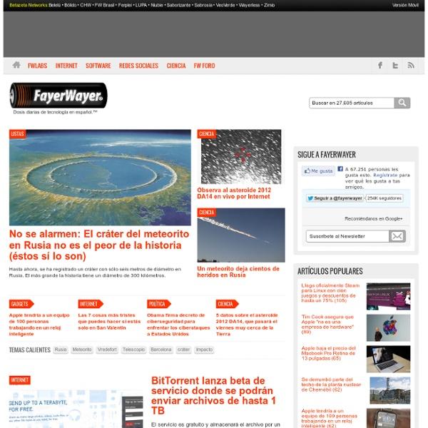 FayerWayer - Dosis diarias de tecnología en español.™