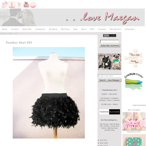 Feather Skirt DIY Fashion