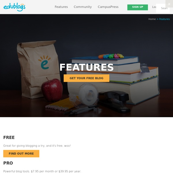 Safe, secure, reliable and trusted by over a million users… -Edublogs