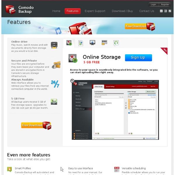 Comodo Backup - 5 GB Free Storage