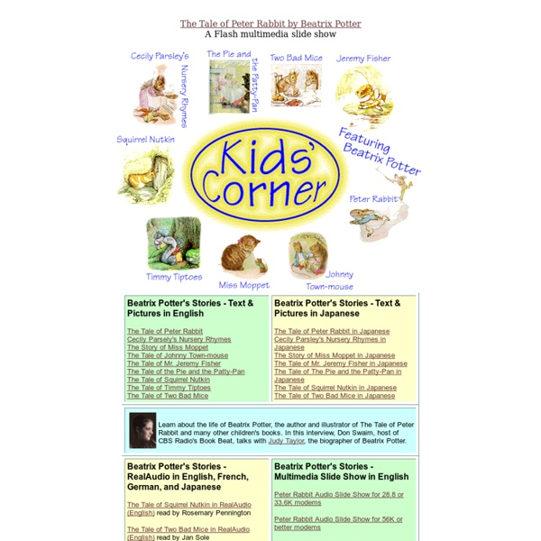 Kids' Corner - Featuring the Stories of Beatrix Potter (and more!)