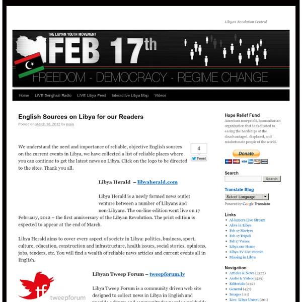 Feb 17 Libya News