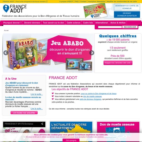 FRANCE ADOT - Fédération des Associations pour le Don d'Organes et de Tissus humains
