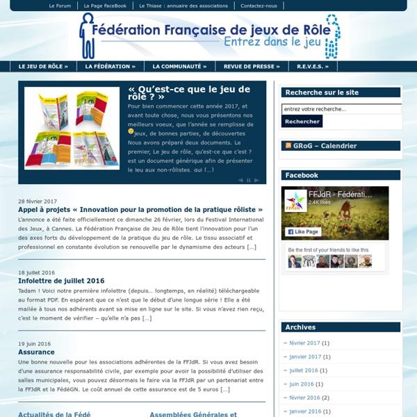Fédération Française de Jeu de Rôle - Entrez dans le jeu