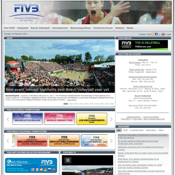 FIVB Fédération Internationale de Volleyball Homepage