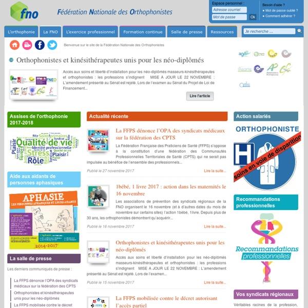 Fédération Nationale des Orthophonistes (FNO)