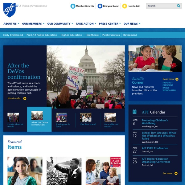 AFT - American Federation of Teachers - A Union of Professionals