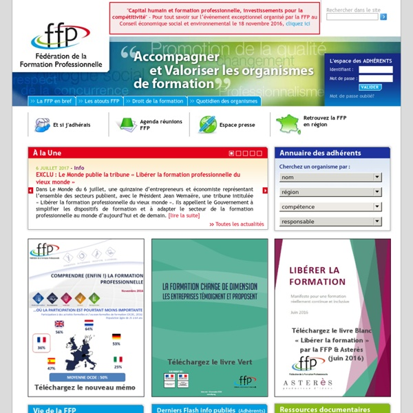 FFP - Fédération de la Formation Professionnelle