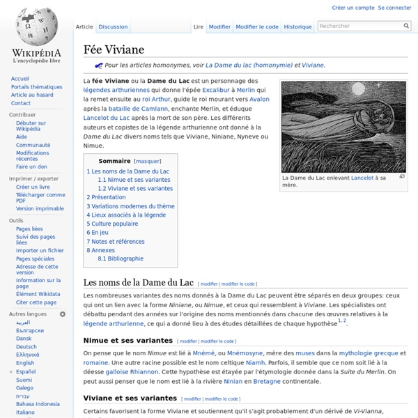 VI - Viviane - Lég. arthurienne