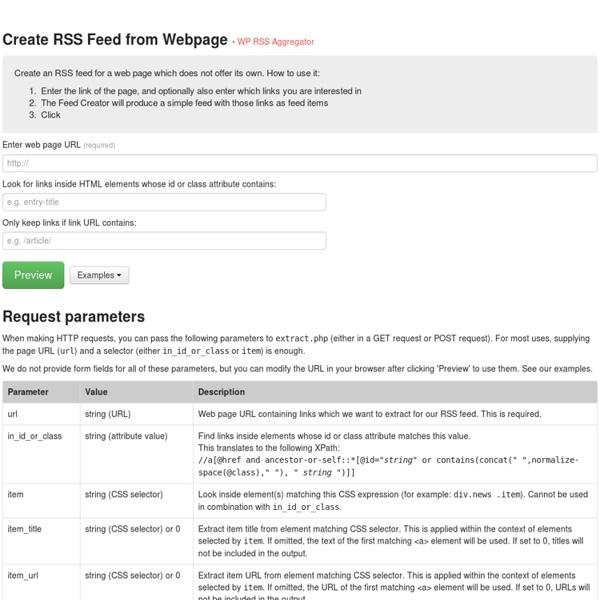 Feed Creator · WP RSS Aggregator